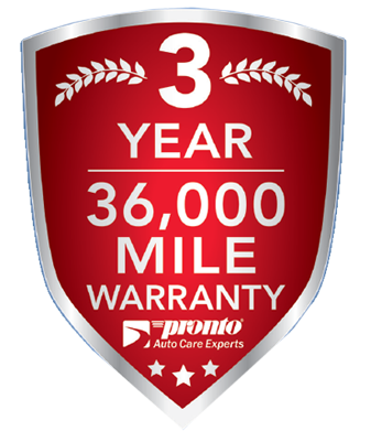 Pronto 36 Month Warranty